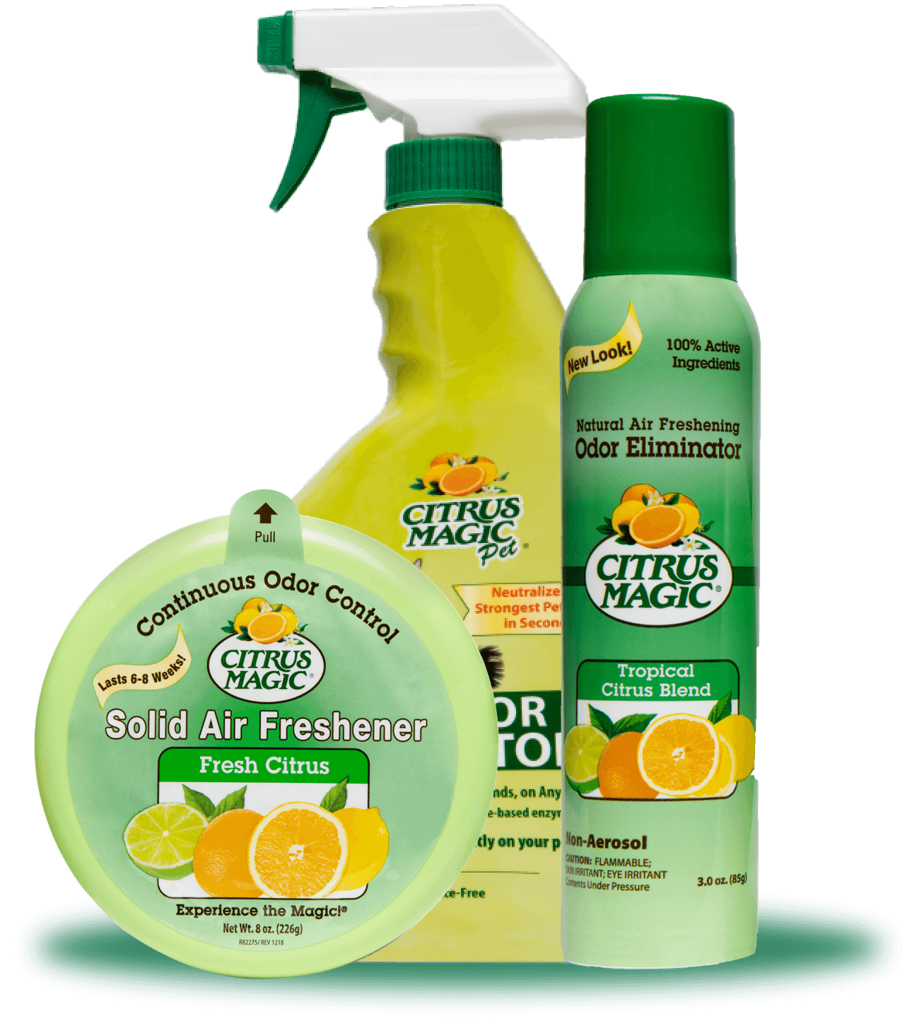 Odor Eliminating Sprays & Solids Products
