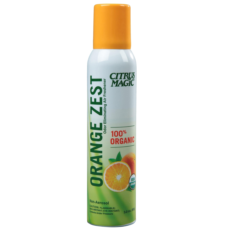 Citrus Magic Organic Natural Odor Eliminating Air Freshener Spray, Orange Zest