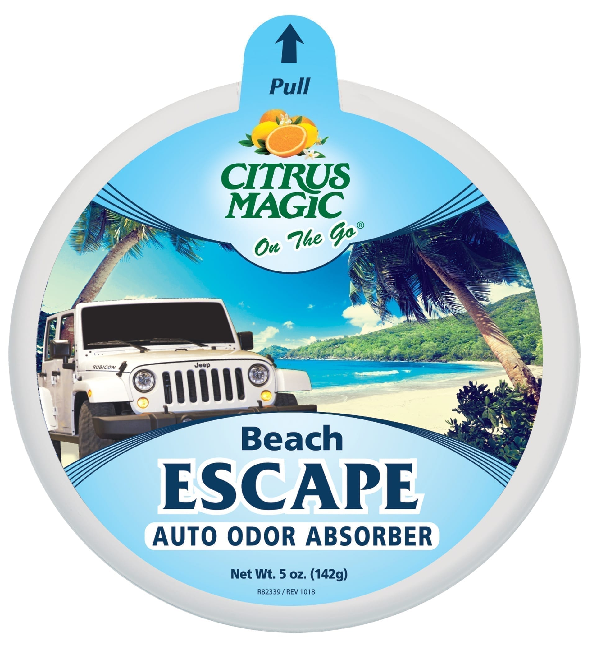 Citrus Magic On The Go Odor Absorbing Solid Air Freshener, Beach Escape