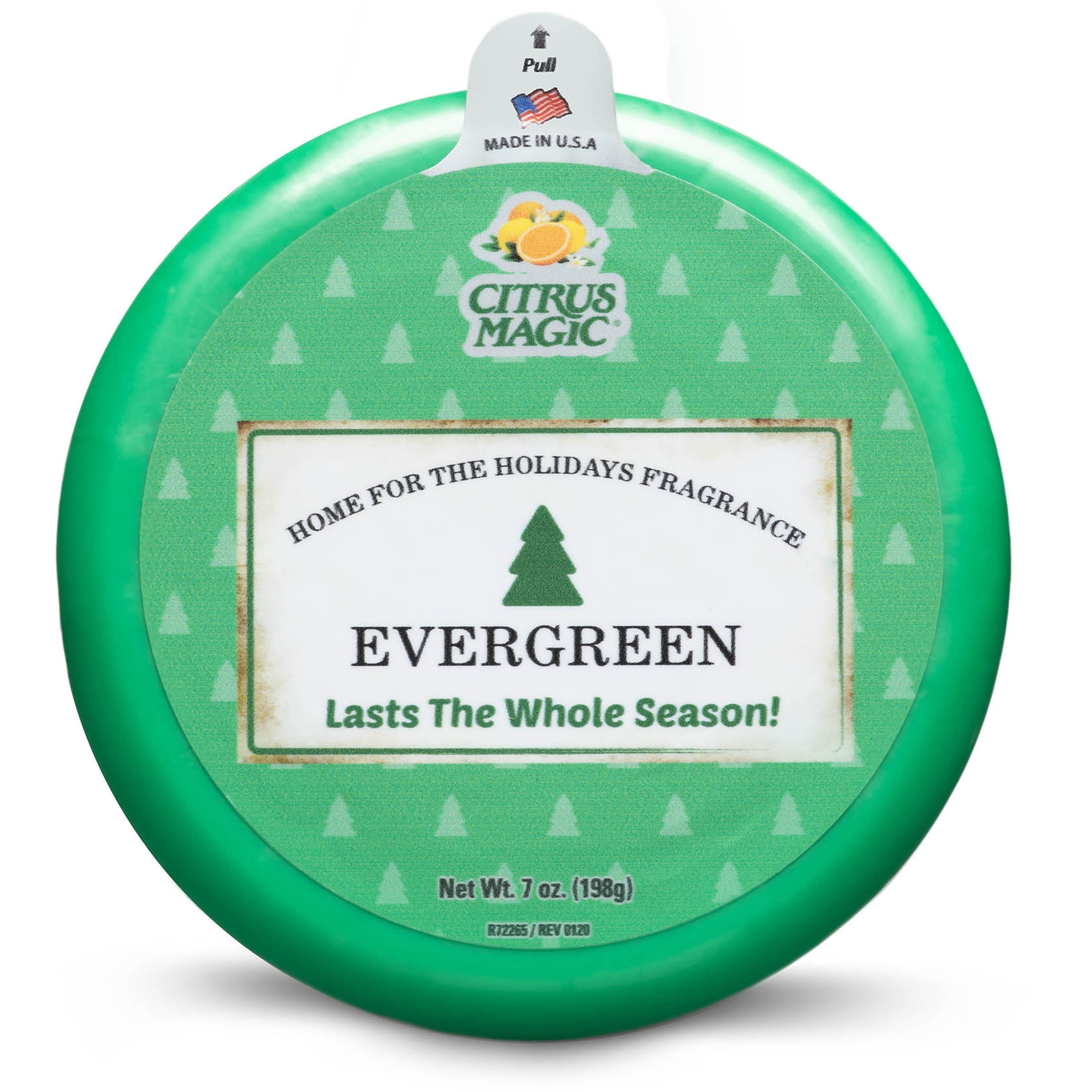 Citrus Magic Holiday Odor Absorbing Solid Air Freshener, Evergreen