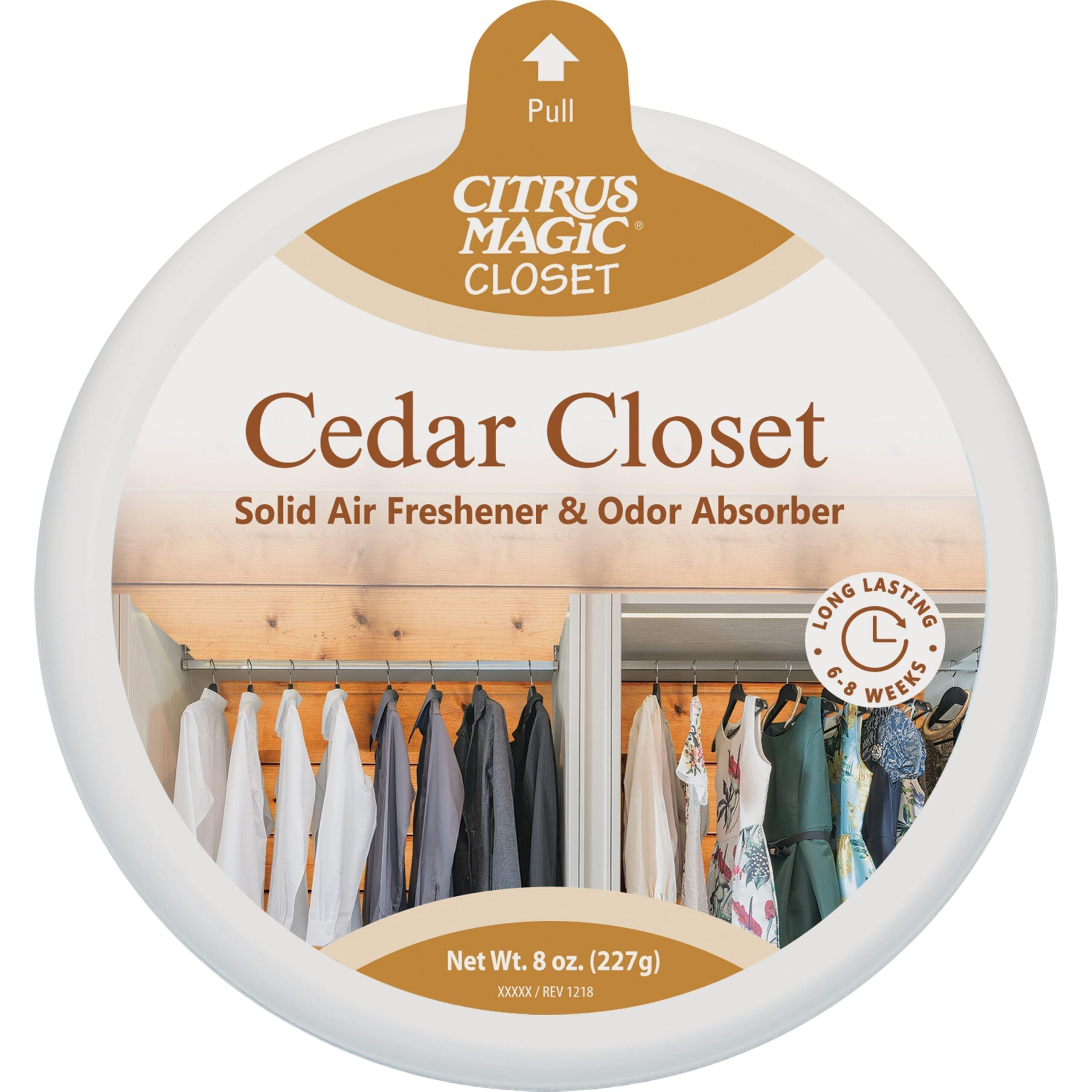 Citrus Magic For Closets Odor Absorbing Solid Air Freshener, Cedar