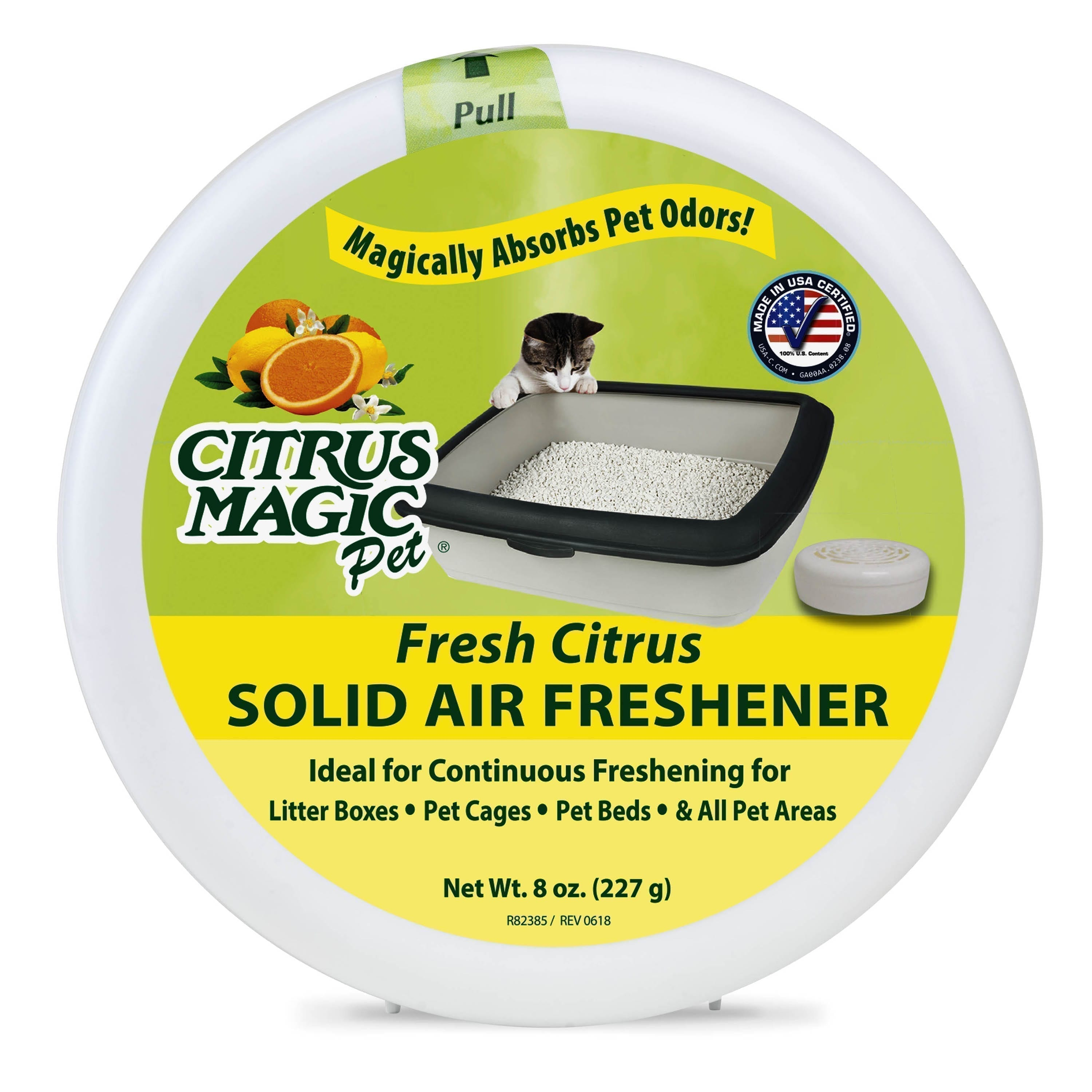 Citrus Magic Pet Odor Absorbing Solid Air Freshener, Fresh Citrus