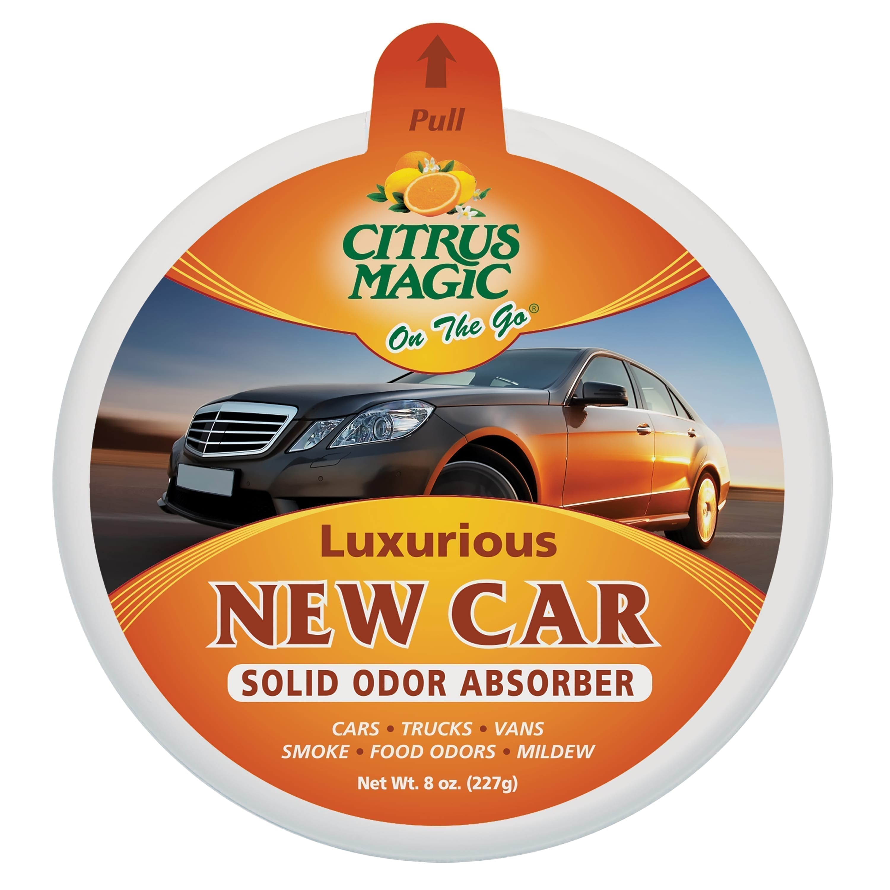 Citrus Magic On The Go Odor Absorbing Solid Air Freshener, Luxurious New Car