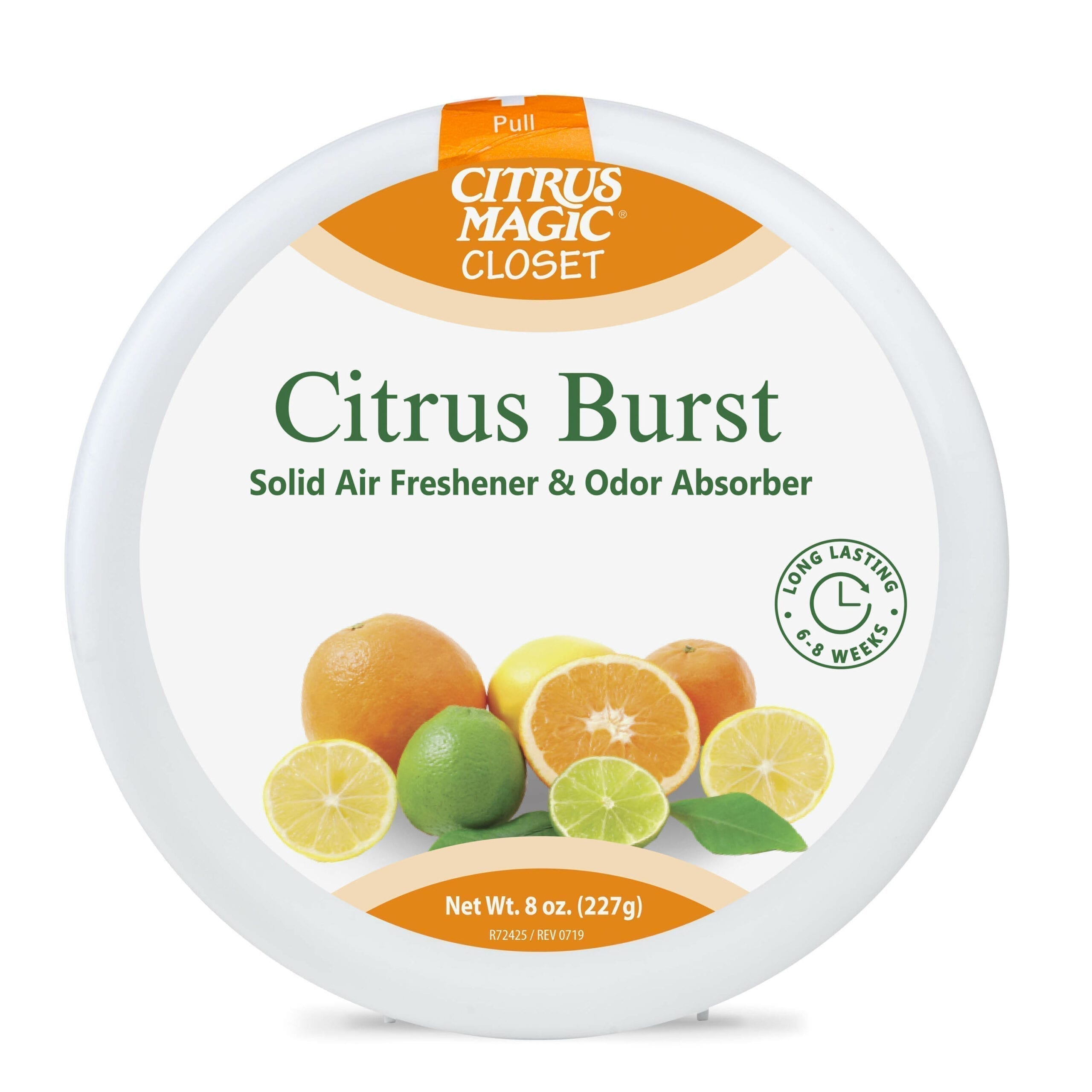 Citrus Magic For Closets Odor Absorbing Solid Air Freshener, Citrus Burst