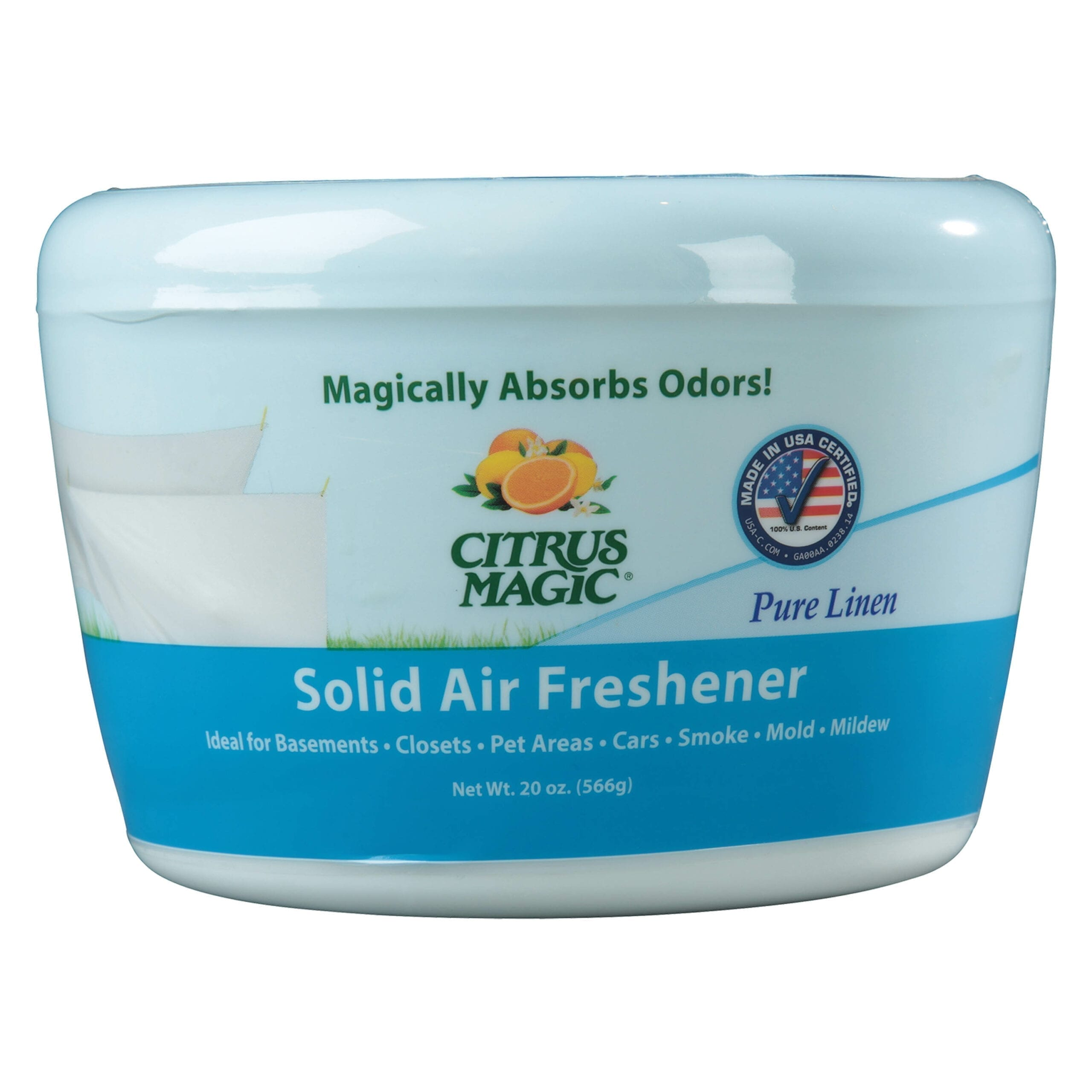Citrus Magic Odor Absorbing Solid Air Freshener, Pure Linen