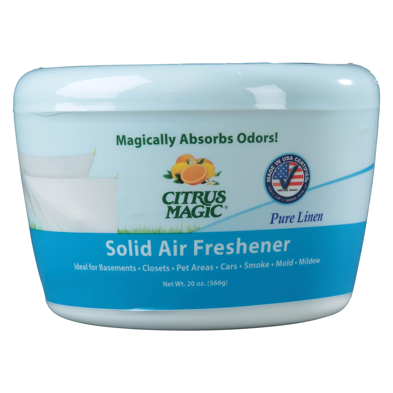 Citrus Magic Odor Absorbing Solid Air Freshener, Pure Linen