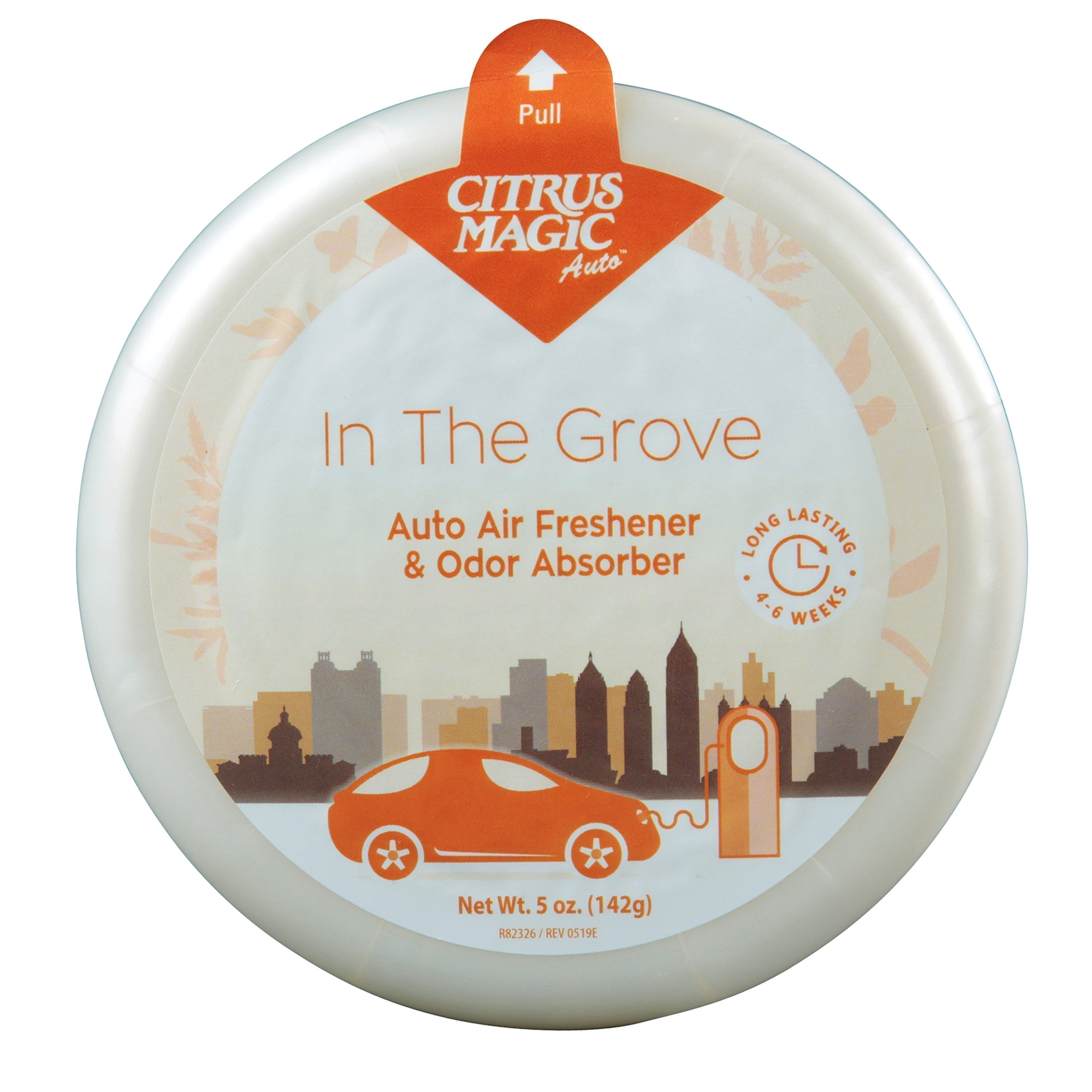 Citrus Magic Auto Odor Absorbing Solid Air Freshener, In the Grove