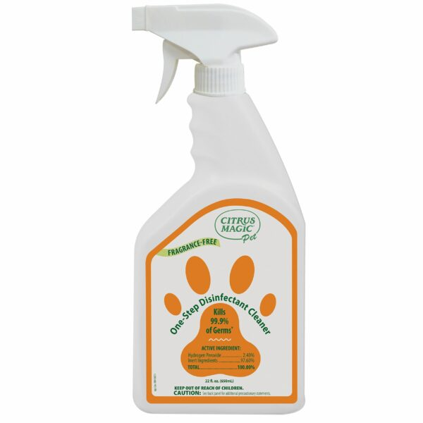 Citrus Magic Pet One-Step Disinfectant Cleaner, Fragrance-Free